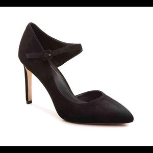 NEW B Brian Atwood Mia Black Suede Mary Jane Pump